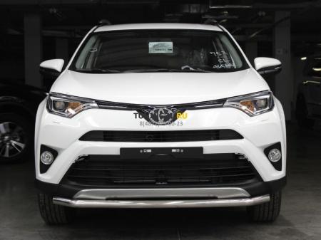 Защита переднего бампера одинарная d-53 с двумя загибами Toyota Rav-4 2015-наст.вр.